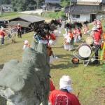 700年続くお祭り/庄原市総領町・領家八幡神社神祇