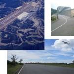 サイクリングコースの中にある国際空港